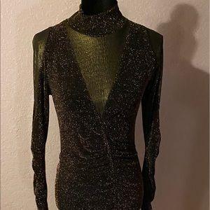 Venus Bronze Glitter Dress Medium Beautiful